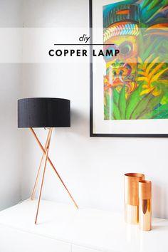 DIY Copper Lamp - Little House On The Corner
