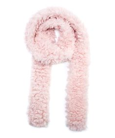 Another great find on #zulily! Light Pink Fluffy Romance Long Skinny Scarf - Women #zulilyfinds