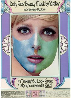 Vintage 1968 ad for Dolly Face Beauty Mask by Yardley of London