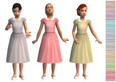 Mod The Sims - Spring it On - Cute Springy Dresses for the Girls
