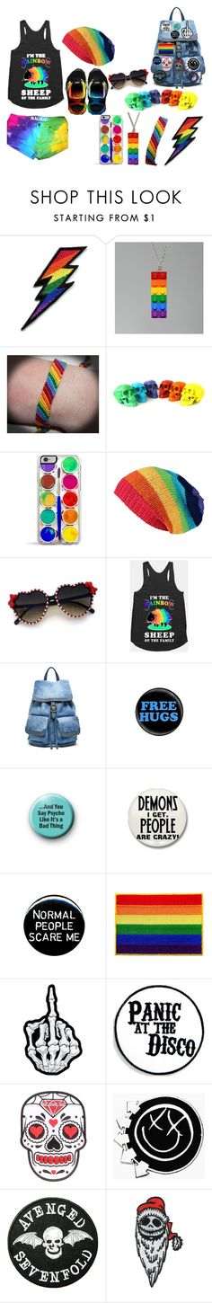 """My outfit for the #GayPrideFestival"" by batman-nat ❤ liked on Polyvore featuring Retrò, Old Trend, Burton, rainbow, gay, pride and gaypride"