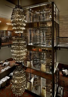 Del Frisco's Double Eagle Steakhouse, Chicago Restaurants with the Best Wine Storage | Architectural Digest