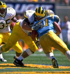 Michigan Wolverines Football, Ncaa College Football, Football Players, Steve Hutchinson, Steelers And Browns, Charles Woodson, Football Pictures, University Of Michigan, Go Blue