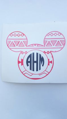 Personalized Monogram Mickey Decal I Car Window by HouseOfCrafts01
