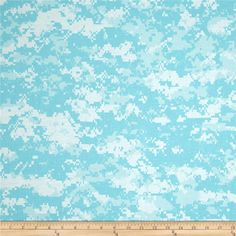 Urban Camouflage Aqua/White from @fabricdotcom  This cotton print is perfect for quilting, apparel, and home decor accents. Colors include shades of aqua blue and white.