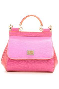 7ddce56735875 Dolce   Gabbana Pink Leather Handbag Rosa Handtaschen