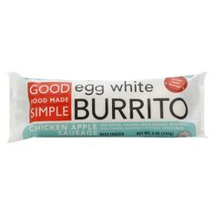 Good Food Made Simple Chicken Apple Sausage Egg White Burrito 5 oz