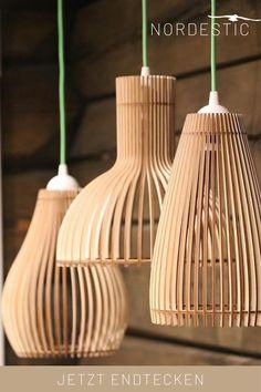 Home Shelter, Wood Lamps, Lamp Design, Interior Lighting, Cool Lighting, Diy Wall, Ceiling Lights, Marcel, Home Decor