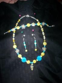Handmade Necklace and Earring Set Free Shipping S12