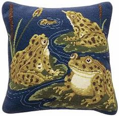Beth Russell Needlepoint William De Morgan Frogs BR/FROG