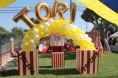 carnival bday party i love the huge popcorn idea!!!