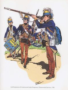 PLATES- CMH: 2nd Regiment of Continental Light Dragoons, Dismounted Service, 1780, by H. Charles McBarron, Jr.