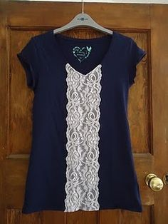 I may have pinned this before...Easy DIY lace tee revamp