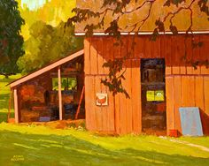 Adam Noonan - September Barn - Winchester Galleries