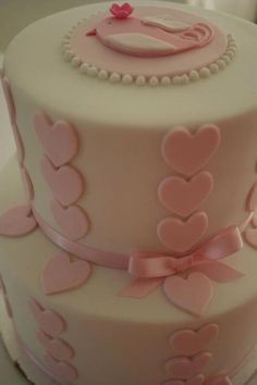 Pink heart Cakes by Sharon