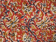 Handloom Indian cotton Kalamkari Floral Print by theDelhiStore