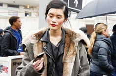 escapingblue:  bluegarcon:  Ming Xi after Michael Kors by me.  Can people stop posting this photo as their own and reblog or credit me as the source? Thanks.