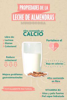 Conoce las propiedades de la leche de almendras #Salud #Alimentacion