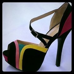 Shoes Multi Color High Heels Shoes, sizes 10,9,8,7,6,5.5 please check availability before you buy it. Shoes