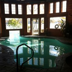Indoor/Outdoor Pool from our Minimoon at Church Landing
