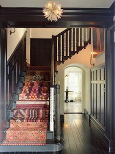 paper oranges: black hall bohemian stairs