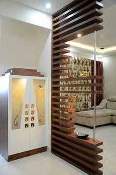 Living Room Partition Design, Living Room Divider, Pooja Room Door Design, Bedroom Door Design, Room Partition Designs, Living Room Interior, Kitchen Room Design, Home Room Design, Living Room Designs