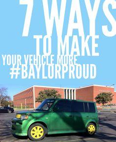7 ways to make your vehicle more #BaylorProud