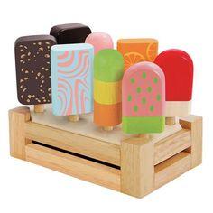 Wooden Ice Cream Bar Set