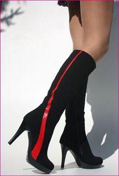Kozačky vysoké semišové 1 Louboutin Pumps, Christian Louboutin, Sexy, Heels, Boots, Fashion, Heel, Crotch Boots, Moda