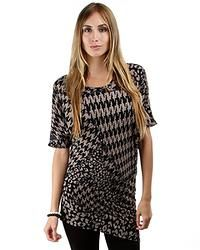 Hounds Tooth Tunic Sweater
