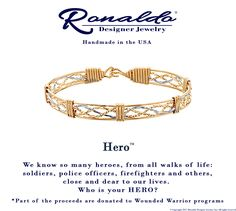 """The Hero Bracelet This 5 strand simple yet elegant bracelet benefits the Wounded Warrior Programs. This spectacular bracelet is perfect for that """"Hero"""" in your life, whether that is a teacher, relative, or a veteran.  www.aperfectpresent.com"""