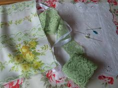hankies and eyelet and lace