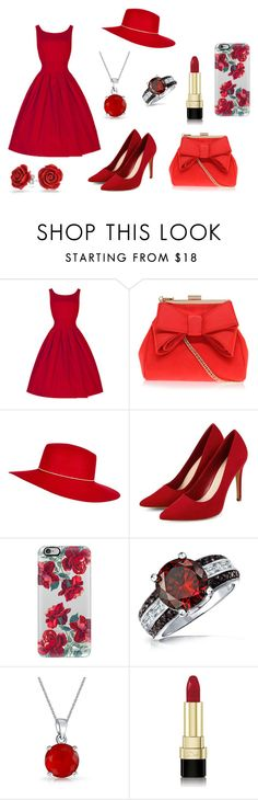 """""""Red Her"""" by mysticsjy on Polyvore featuring Miss KG, River Island, Casetify, Bling Jewelry and Dolce&Gabbana"""