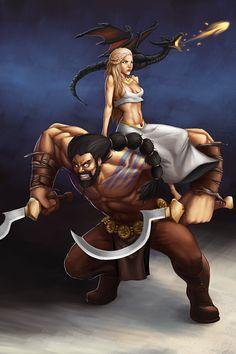 Beauty and the Beast by GenghisKwan.deviantart.com on @deviantART | Drogo and Daenerys Targaryen