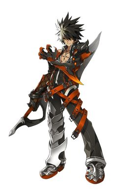 Raven (Reckless Fist) from Elsword. Character Concept, Character Art, Concept Art, Fantasy Warrior, Fantasy Rpg, Fantasy Characters, Anime Characters, Oc Manga, Dragons