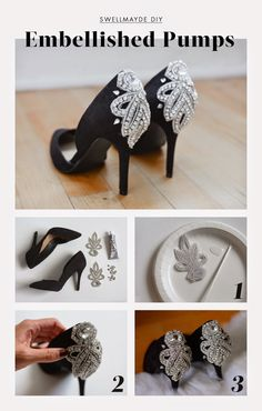 swellmayde: HOLIDAY DIY | EMBELLISHED PUMPS