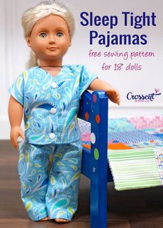 """Free Pajama Pattern for 18"""" Dolls   Crosscut Sewing Co."""