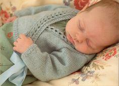 Baby Wrap Over vest breien patroon  4 lgs  door PippasPatternShop