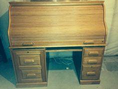 Nice Oak Roll Top Desk