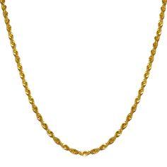 Jet NissoniJewelry presents - 3mm Light Rope Chain 14k Y/Gold    Model Number:HSR023-18    https://jet.com/product/3mm-Light-Rope-Chain-14k-YGold/e83d4d60f6ca4c919998640a71704766