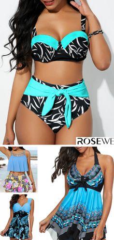 Paisley Print Wide Strap Padded Swimdress and Shorts - Swimwear - Bikini Mode Tankini With Shorts, Bikini Modells, Swimsuit, One Piece Bikini, Swim Dress, Bikini Photos, Bikini Fashion, Paisley Print, Look