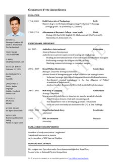 sample of resume template example format of resume 7 free curriculum vitae template word