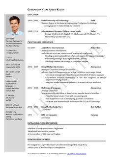 Free Curriculum Vitae Template Word | Download CV template