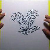Como dibujar flores paso a paso | How to draw flowers