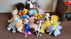 Large Bundle of 27 Soft Stuffed Animal Teddy Beds Toys