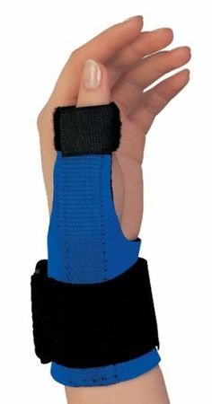 CHAMPION Neoprene Thumb Immobilizer, Small by Champion. $5.00. Measure around the break of the wrist. Fits 4.75-6.0 inches. Allows unrestricted movement in the fingers and preserves maximum function of the hand. Contoured metal splint can be reshaped if necessary to enhance wearing comfort. Hook and loop fasteners permit easy, one-handed adjustment and closure.. Excellent choice to treat DeQuervain's Tendonitis, MCP joint sprains and strains, basal joint arthri...