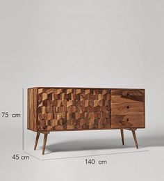 Swoon Editions Sideboard, mid-century style in rosewood - Hat And Coat Stand, Swoon Editions, Tv Furniture, Wood Detail, New Living Room, Retro Home, Mid Century Style, Design Crafts, Sideboard