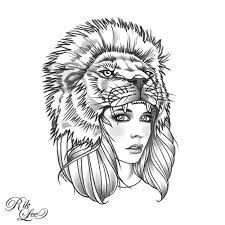 lion hat girl tattoo - Google Search