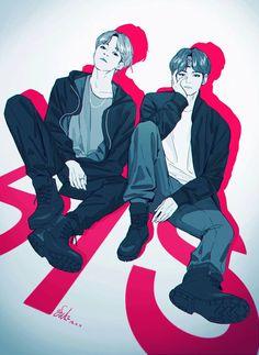 Jimin and Taehyung fanart