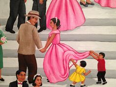 Such a beautiful painting - and that's just  one scene from this piece of art on exhibit at the National Museum of Mexican Art as it celebrates 25 years in Chicago's Pilsen neighborhood. Its 25th Fiesta kicks off Sunday, 3-25